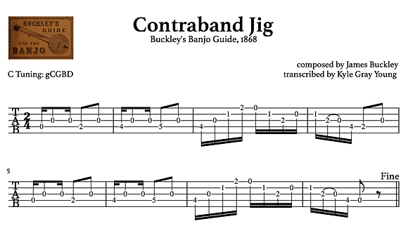 10 Pieces from Buckley's Banjo Guide of 1868