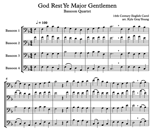 God Rest Ye Major Gentlement (Bassoon quartet)