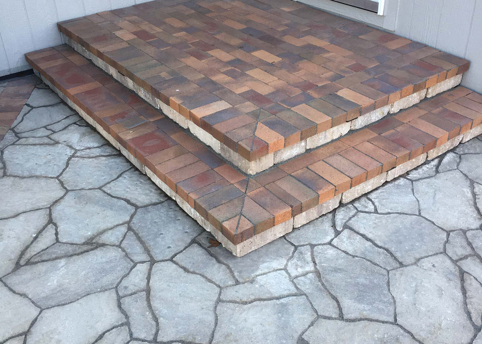 Brick and paver back porch in Raymore.