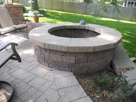 Wood burning firepit in Fairway, KS.