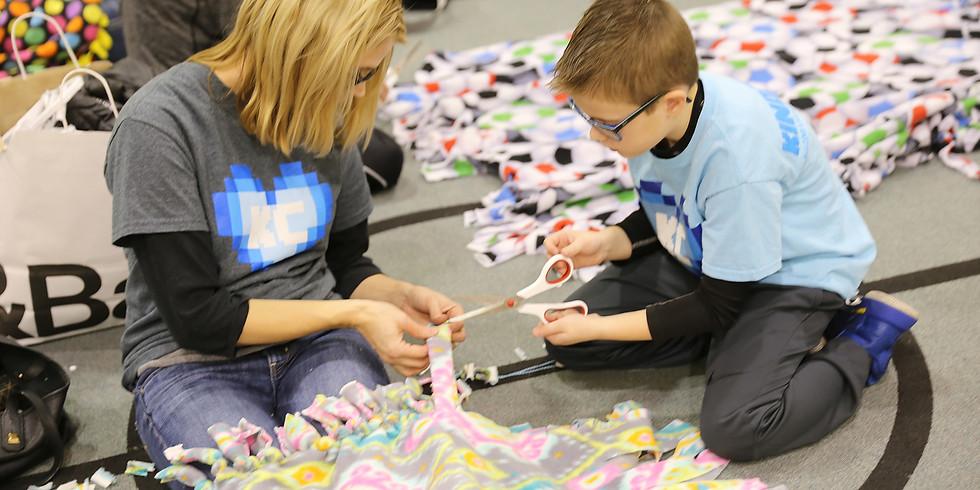 KindCraft's 5th Annual No Sew Fleece Blanket event