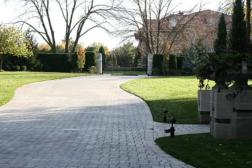 Unilock paver driveway.