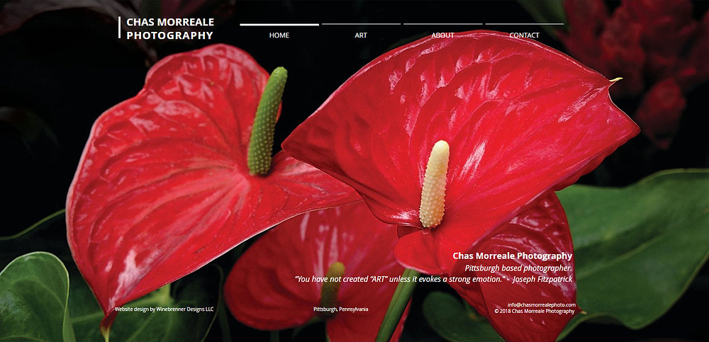 New website for Chas Morreale Photography