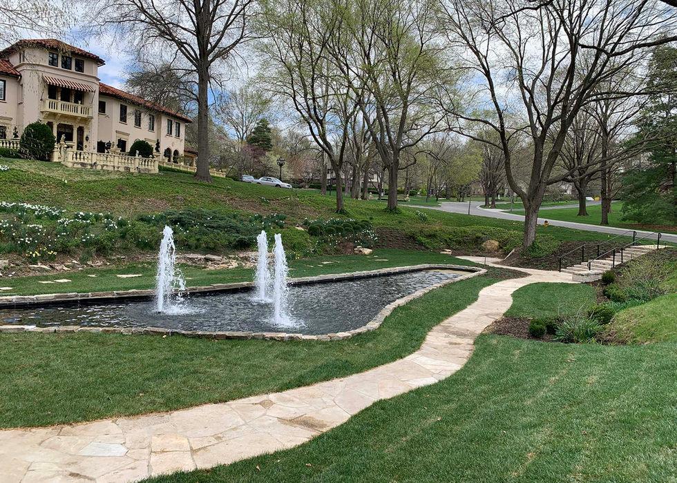 Sunken Gardens walkway in Mission Hills, KS.