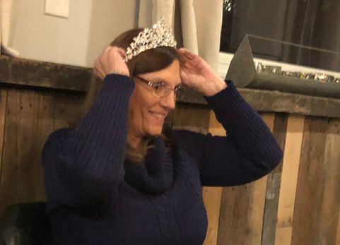 Some days you just have to put on the tiara and write