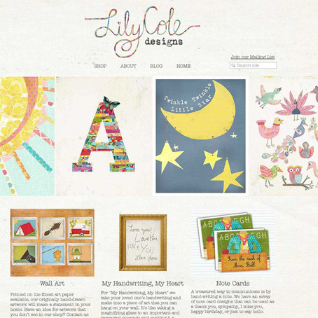 Lily Cole Designs goes Live!