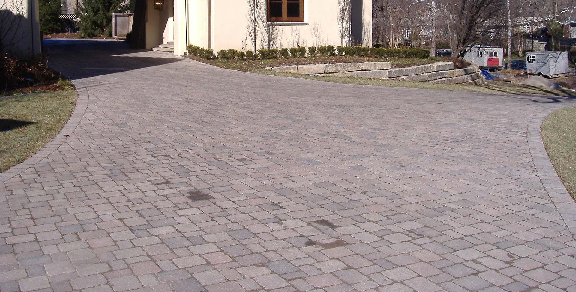 Mission Hills Unilock paver driveway.