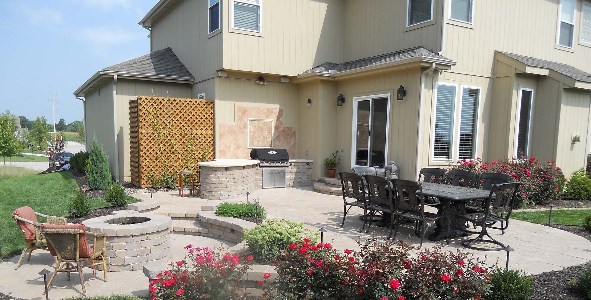 Outlook Hardscape complete outdoor patio makeover in Lenexa, KS.