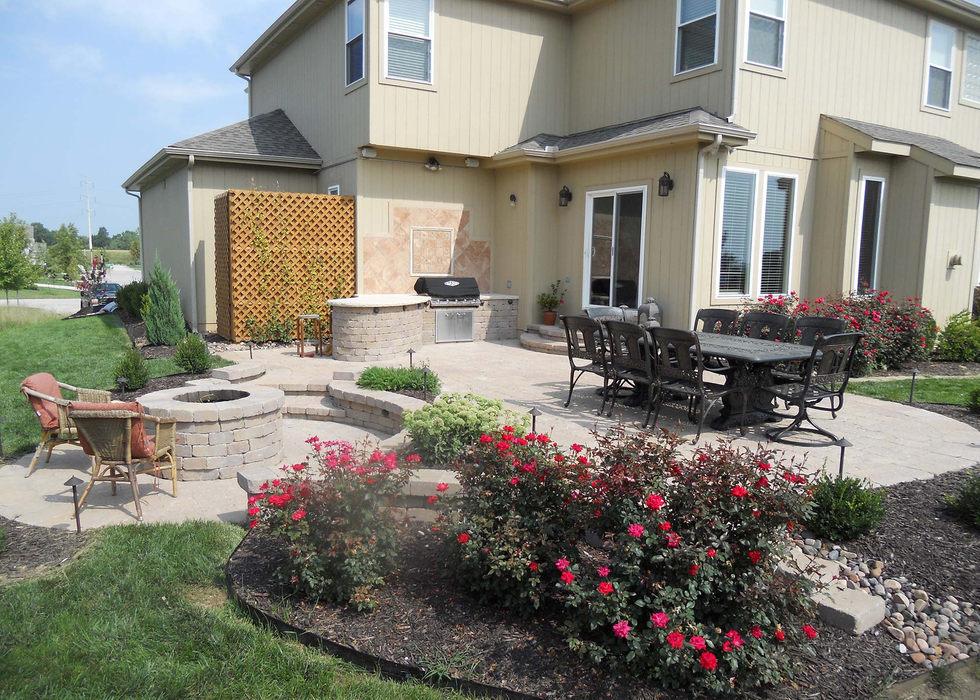 Outlook Hardscape complete outdoor patio makeover in Lenexa, KS.