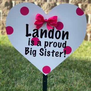 Pink Sibling Heart