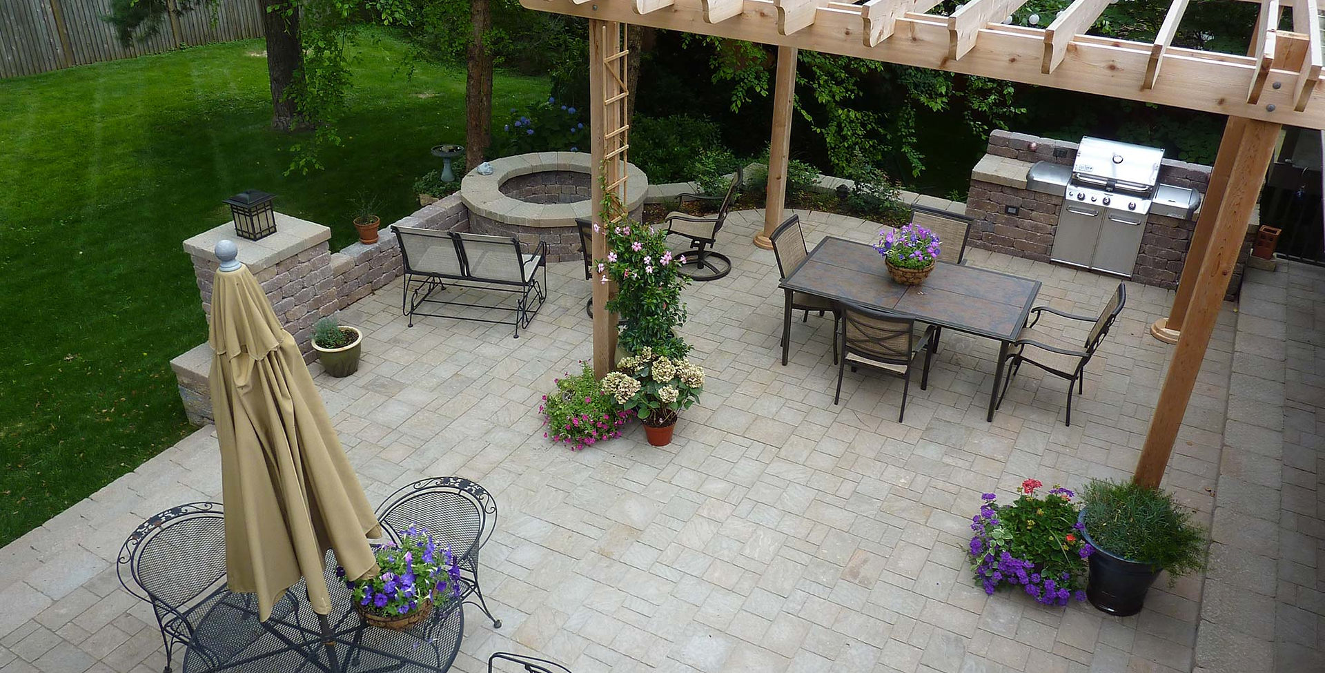 Complete patio makeover design.