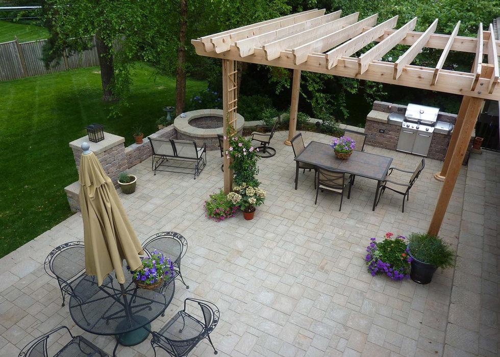 Complete patio makeover design.