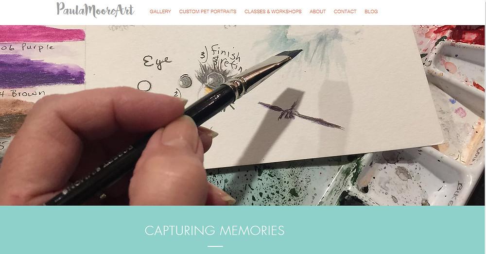 New website for Paula Moore Art