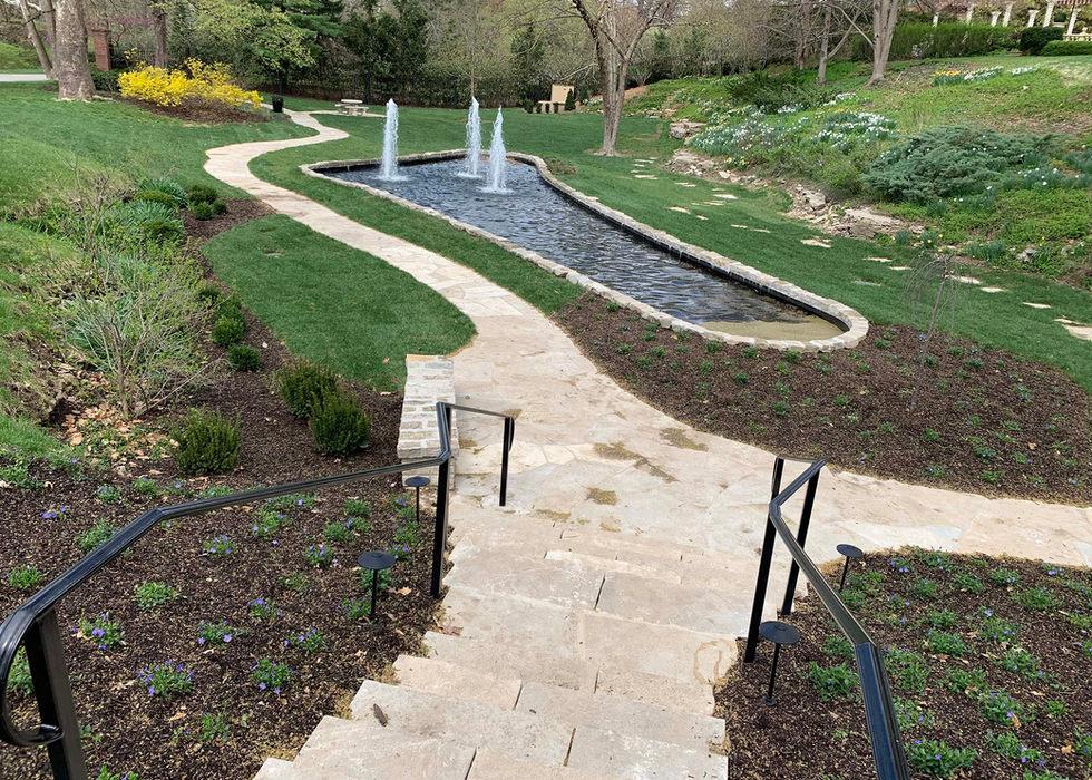 Ledgestone steps at Sunken Gardens.
