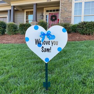 Blue Message Heart
