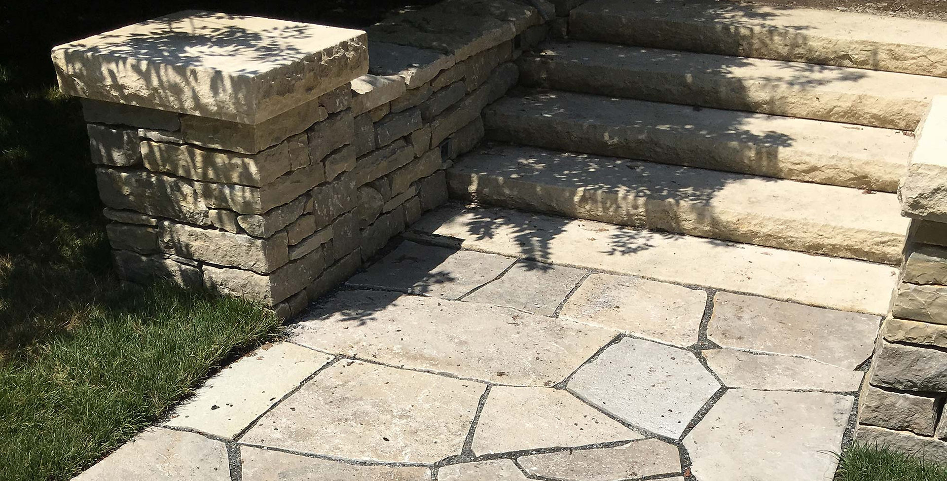 Flagstone walkway in Mission Hills, KS.