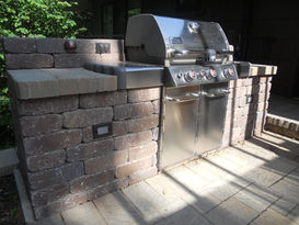 Built-in grill surround for Weber Grill.