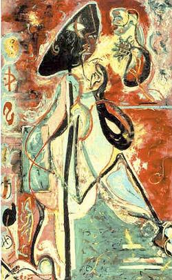 Jackson Pollock, The Moon-Woman Cuts the Circle (1943)