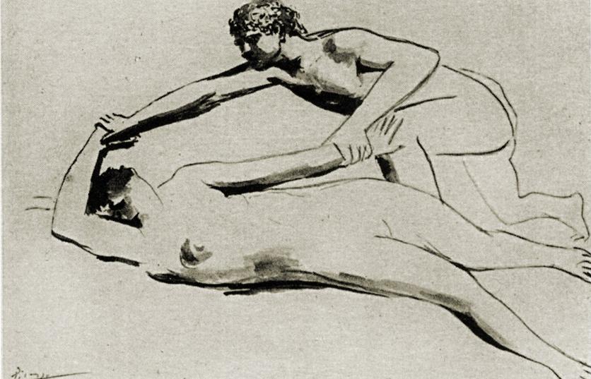 1925_Picasso_Étreinte