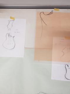 guitars on paper