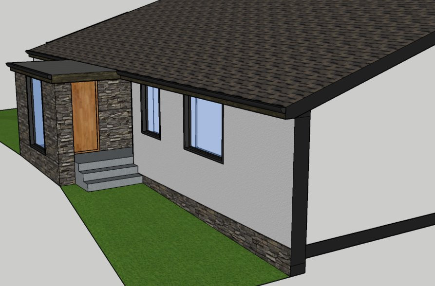 SketchUp model of porch for client