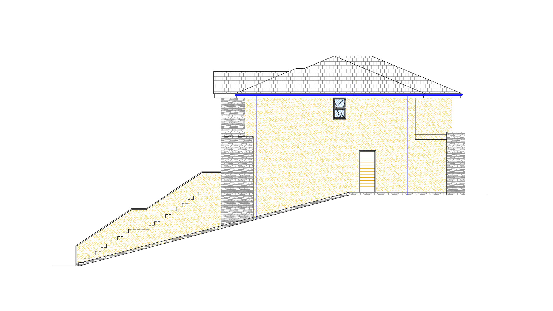 New Build Gable Elevation
