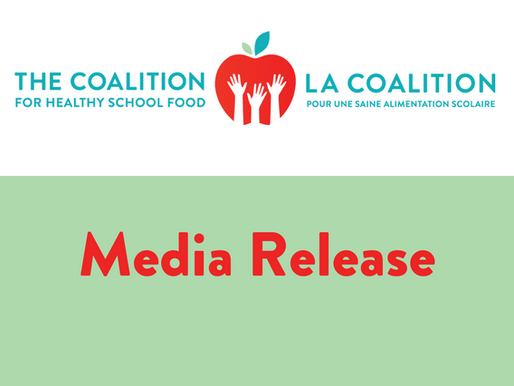 Coalition calls on all cities to support a Canada-wide Universal School Food Program