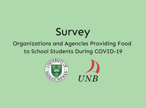 A Survey of Organizations and Agencies Providing Food to School Students During COVID-19
