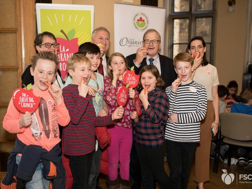 Over 300,000 Canadians crunched for a national school food program