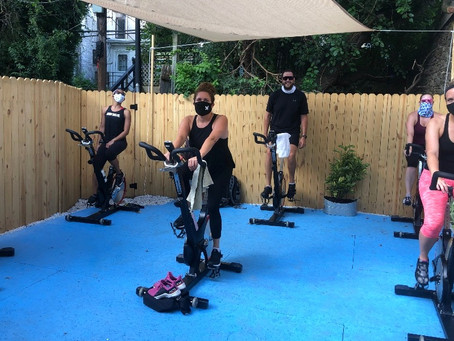 The Wall Just Opened a Kick-Ass Secluded Outdoor Spin Studio