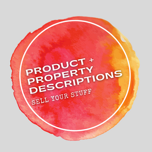Products, Services and Real Estate Property Descriptions.