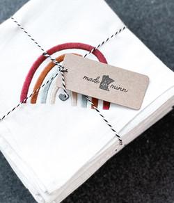 Embroidered Rainbow Flour Sack Towel, Boho Rainbow, Boho Towel, Boho Gift
