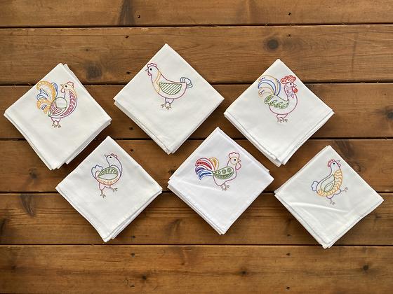 Hen + Rooster Set - Flour Sack Towel