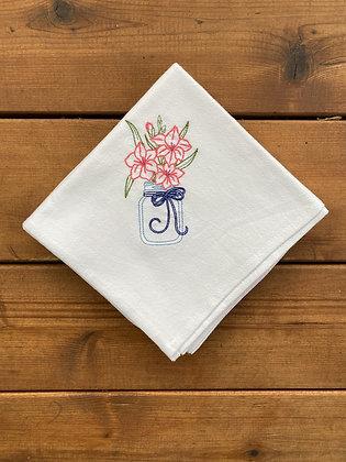 Mason Jar Flowers - Flour Sack Towel
