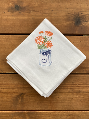 Orange Flower - Flour Sack Towel