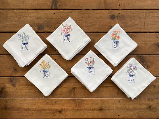Flower Set - Flour Sack Towel