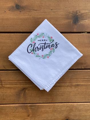Christmas Wreath - Flour Sack Towel