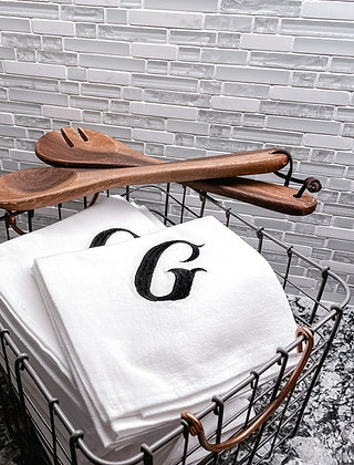 Monogram Beauty Set of 2 - Flour Sack Towel