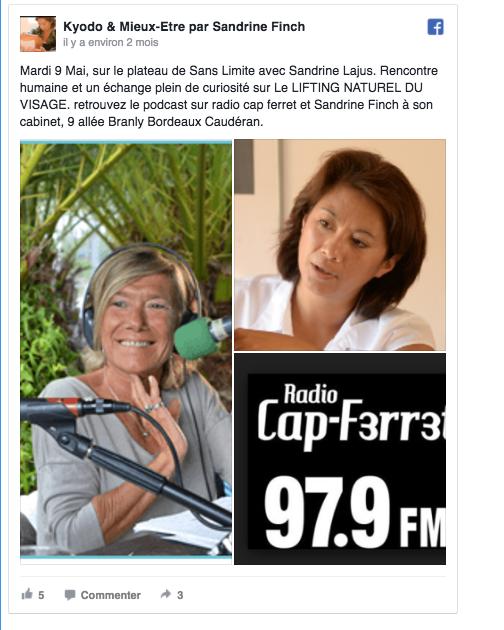 Interview radio cap-ferret Kyodo