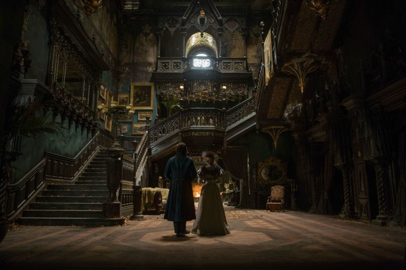 inside of the titular house in Crimson Peak (2015)