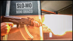Mini Draco AK47 pistol slow motion muzzl