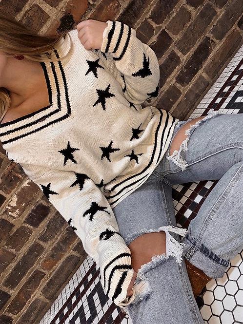 Varsity Star Sweater