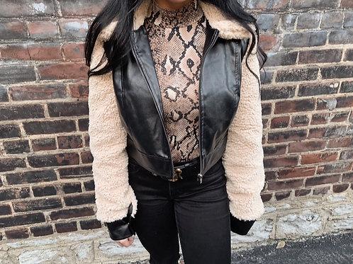 Teddy Leather Jacket
