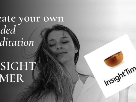create your own guided meditation on insight timer