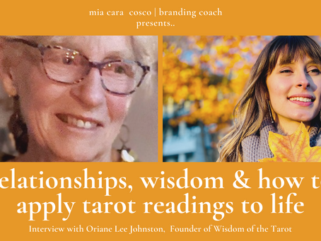 interview with oriane lee johnston: relationships, wisdom & how to apply tarot readings to life