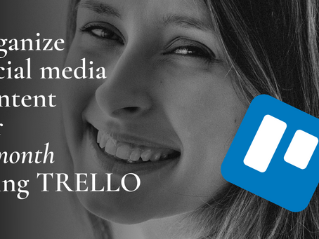 organize social media content for a month using TRELLO