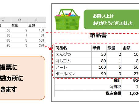 【お知らせ】一体型帳票の作成に対応