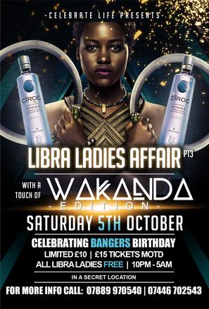 Wakanda theme flyer front
