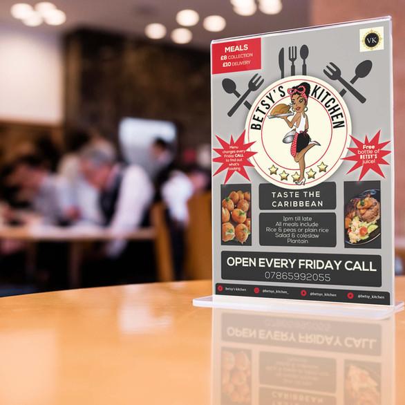 Betsey's Kitchen flyer