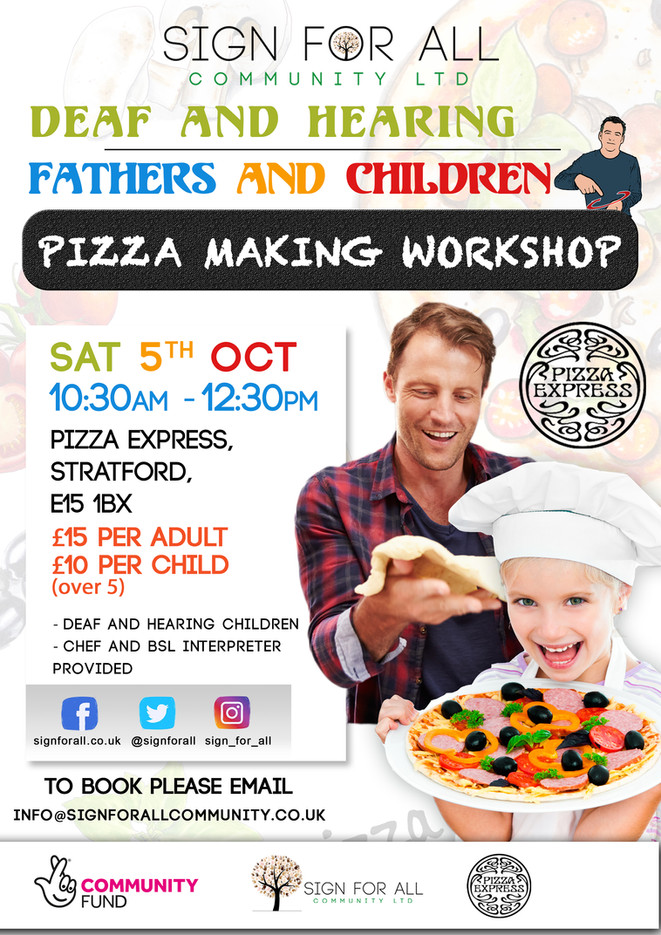 Pizza making workshop poster